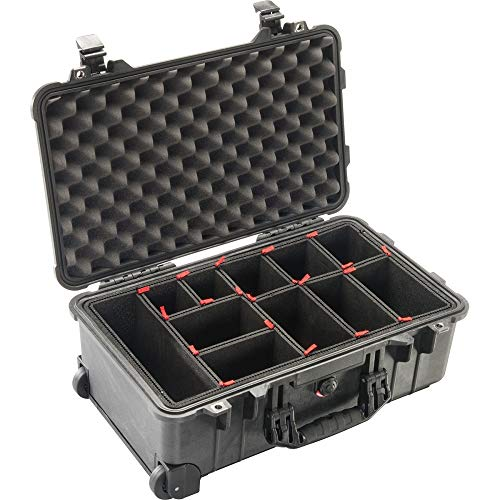 Peli Case 1510 Trolley met Trekpak indelingssysteem, zwart, camerakoffer, fotokoffer, outdoorkoffer, waterdicht, IP67
