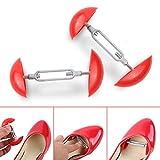 Jewelvwatchro 1Pair Mini Shoe Stretchers, Men Women Shoe Stretchers Shaper Expander Width Extender Adjustable-Red