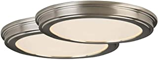 """Commercial Electric 24-Watt Brushed Nickel Integrated 13"""" LED Ceiling Flushmount"""