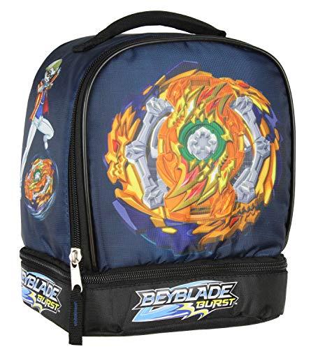 Beyblade Burst Fafnir Spinner Top Fumiya Kindo Dual Compartment Insulated Lunch Box Bag Tote