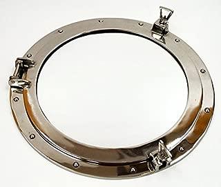 Xl Ships Porthole Mirror Aluminum Chrome Finish 24
