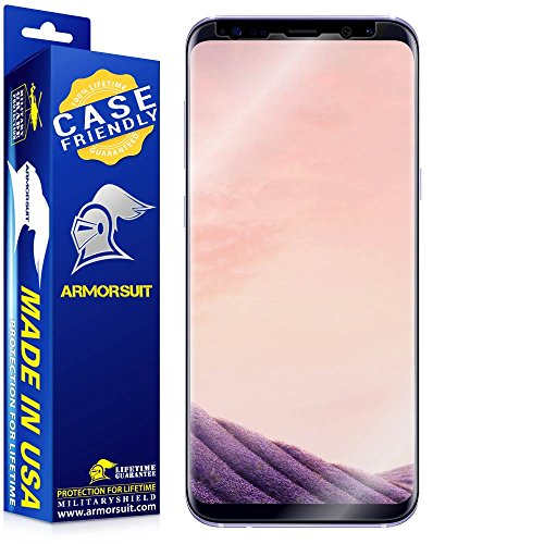 ArmorSuit - Galaxy S8 Plus Screen Protector [Case Friendly] MilitaryShield for Samsung Galaxy S8 Plus Anti-Bubble Lifetime Replacement HD Clear