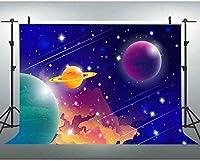 新しい7x5ft漫画の背景宇宙の惑星の写真の背景アウトスペースカスタマイズされたスタジオの背景スタジオの小道具 111