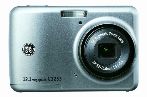 GE General Electric C1233Cámara Digital (12Mpx, de 3aumentos. Zoom, Pantalla de 6,1cm (2,4Pulgadas), función panorámica, estabilizador de Imagen)