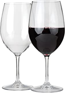 Lily's Home Unbreakable Cabernet and Merlot Bordeaux Red Wine Glasses, Made of Shatterproof Tritan Plastic, Ideal for Indoor and Outdoor Use, Reusable and Crystal Clear (20 oz. Each, Set of 2)