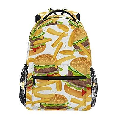 Hamburger Sac à dos à frites pour étudiants Sac à dos de voyage Randonnée Camping ordinateur portable Sac à dos