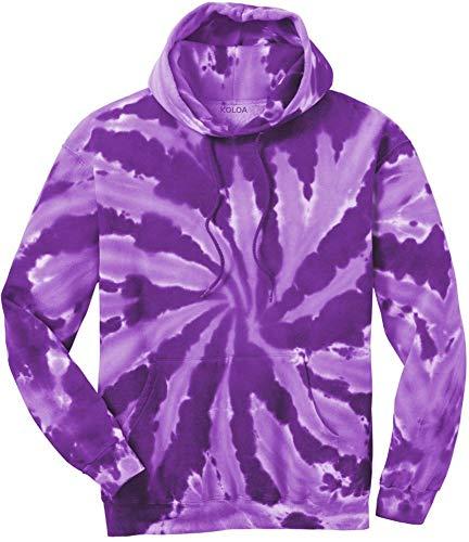 Tie-Dye Pullover Hooded Sweatshirt,4X-Large Purple Tie-Dye