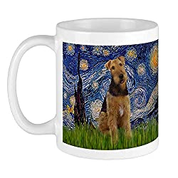 CafePress Starry Airedale #1 Mug Unique Coffee Mug, Coffee Cup