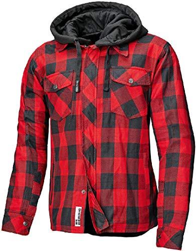 Held Lumberjack II Motorrad Textiljacke Schwarz/Rot 4XL