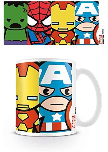 Marvel Kawaii - Taza Avengers, 320 ML
