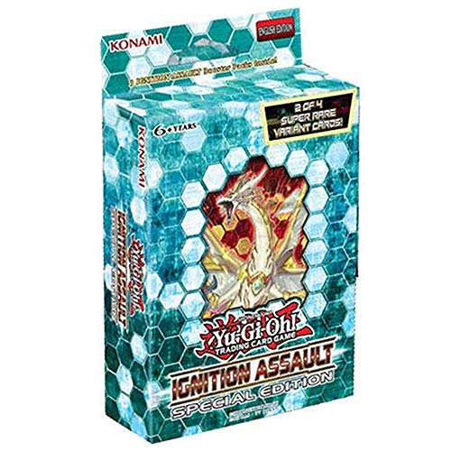 Yu Gi Oh- Box Special Edition, Colore Nero/Celeste, TCG383SEDIS