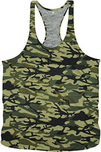 Bodybuilding Army Camouflage Stringer Tanktop Fitness Muskel Muscle Shirt Vest in 7 Farben (S, Jungle Army)