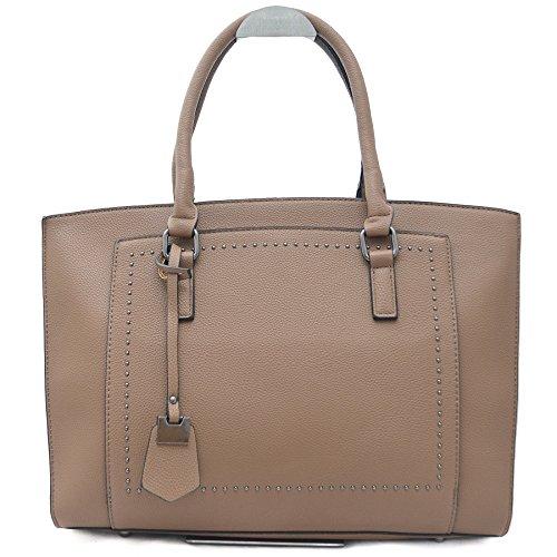 Max Mon HENKEL Handtasche mit Schulterriemen in zwei Farben (Taupe)