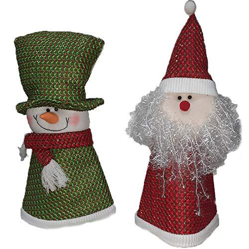 Puntale Pupazzo di Neve Babbo Natale per Albero di Natale Decorazioni addobbi Natalizi Ornamento Decorazioni vetrine Negozi casa -Pupazzo di Neve