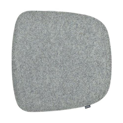 ikarus Sitzkissen 2-lagig Silbergrau (passendes Zubehör für Eames Armchair)