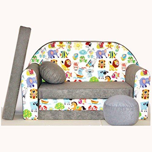 Kindersofa Spielsofa Minicouch aus Schaum Kindersessel Kissen Matratze Farbwahl (52)