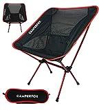 CamperFox Campingstuhl faltbar mit Tragetasche - Outdoor Stuhl klappbar - 110kg - leicht - kompakt -...
