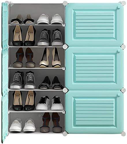 YLCJ schoenenkast kubus voor het opbergen van schoenen, van kunststof, met deur, ruimtebesparend, 83 x 32 x 92 cm (L x B x H), LLA132XJ (kleur: wit)