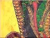 DEKOVALENZ - Drachen-Fahnen Stoff Dragon mit Herz-Spitze, versch. Farben, Farbe:goldgelb, Fahnenlänge:5 Meter