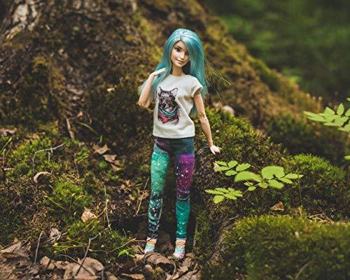Kpoiuy PinturaporNúMeros para Adultos NiñOs Pintura por NúMeros con Pinceles Y Pinturas Decoraciones para El Hogar - MuñEca Barbie Bosque Estilo 16 * 20 Pulgadas