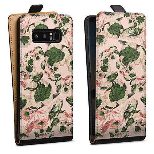 Tasche kompatibel mit Samsung Galaxy Note 8 Duos Flip Hülle Hülle Schwarz Designer Fashionweek Mode