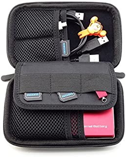 Diabetes Organizers Case Insulin Pens Glucose Meter Bag Testing Strips Kit Travel Headphone Power bank Carrying Pack for Men Women (Black)