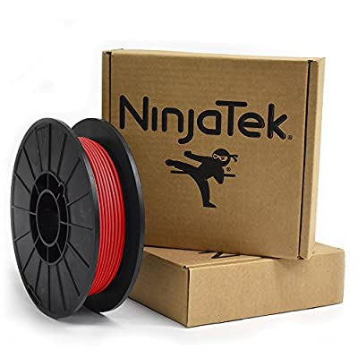 NinjaTek 3DNF03129005 NinjaTek NinjaFlex TPU Filament, 3.00mm, TPE.5kg, Fire (Red) (Pack of 1)