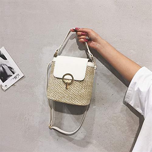 T-ara Das neue Handgemachte kleine Stoppel Eimer Taschen für Frauen Sommer Crossbody Taschen Lady Travel Handtaschen Distäffe Schultertasche Geldbörse Bolsa Unverzichtbar zum Wandern