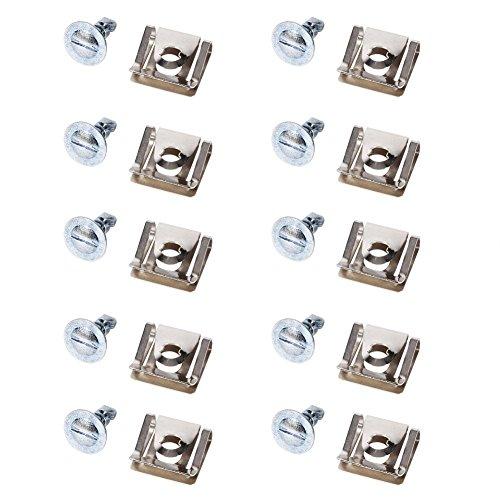 Auto Motor Unterboden Schraubklammern, Keenso 10x Motorabdeckung Schraube Clips Schnalle + Schraube