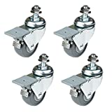 POWERTEC 17202 Dual Locking Swivel Caster Wheels Set of...