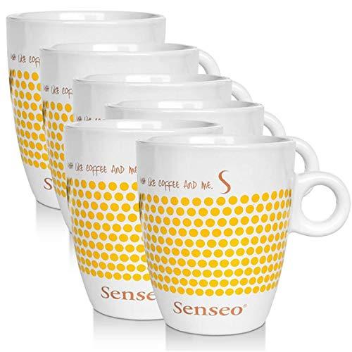6 x Senseo Design Fussball EM Sonderedition gelb Porzellantasse Kaffeetasse 160 ml