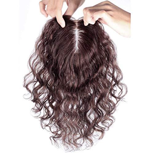 Yanamy Couronne de cheveux bouclés véritables pour femme 7,6 x 10,2 cm