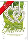 Hochzeitskarte XL-Herzlichen Glückwunsch zur Hochzeit,A4 Karte incl.Kuvert