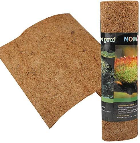 AUOKER Reptile Carpet, Brown Reptile Terrarium Liner Mat Substrate Bedding...