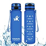 KollyKolla Botella Agua Sin BPA Deportes - 500ml, Reutilizables Ecológica Tritan Plástico, Bebidas...