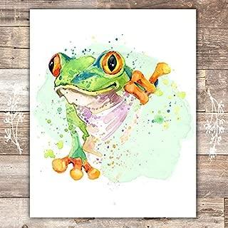 Frog Wall Art Print - Unframed - 8x10