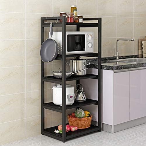 Plank - Keuken Vloerstandaard Keuken Opslag Rack Vijf lagen Opslagrek Oven Rack Multi-functie 70cm*40cm*140cm