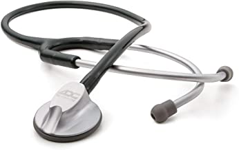 ADC Adscope Lite 612 Lightweight Platinum Clinician Stethoscope with Tunable AFD Technology, 30.5 inch Length, Black
