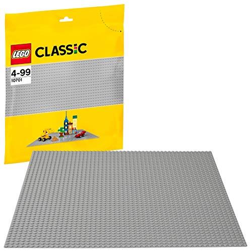 LEGO 10701 Classic Graue Bauplatte, 38 cm x 38 cm, Lernspielzeug, kreatives Spielen