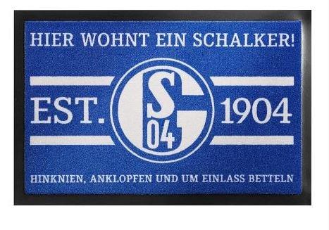 FC SCHALKE 04 S04 FUßMATTE HIER WOHNT EIN SCHALKER