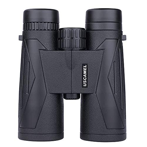 Los prismáticos de alta definición se pueden utilizar para teléfonos móviles impermeables, montañismo, observación de aves, caza, conciertos, viajes de fútbol (negro)