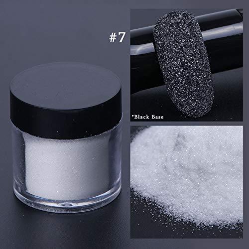 Poudre holographique Nail Glitter Chrome Pigment Sucre Poussière Noir Blanc Sirène Brillante Vernis À Ongles Art Décorations Manucure SAMN 7