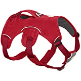 RUFFWEAR Multi-Use Dog Harness, Rugged Environments, Working Dogs, Large to Very Large Breeds, Adjustable Fit, Size: Large/X-Large (81-107 cm/32-42 in), Red Currant, Web Master Harness