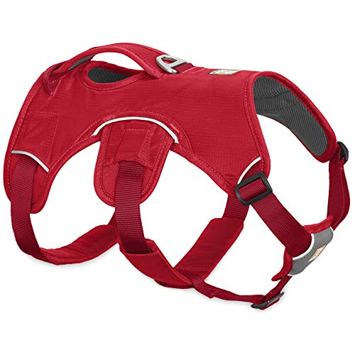RUFFWEAR, Web Master, Multi-Use Support Dog Harness, Hiking and Trail Running, Service and Working, Everyday Wear, Red Currant, XX-Small