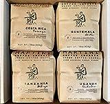 Unroasted Green Coffee Beans - Premium Sampler - 4LBS - 100% raw Arabica Coffee Beans - Guatemala Atitlan, Uganda Bukalasi, Costa Rica Tarrazu, Tanzania Mbeya