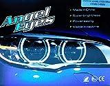 Kit Anneaux Angel Eyes LED Cotton 2 x 131 mm + 2 x 146 mm CANBUS E46 E90 E91 sans projecteur Blanc 6000 K Angel Eyes Halo Anneaux E-MARK