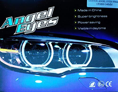 2pcs Angel Eyes Halo Keenso LED COB Projecteur Ange Yeux Phare Lampe 12 V Ampoule Anneaux Lumi/ère Blanc Feux dAlarme pour Moto Voiture 120mm