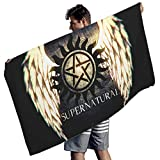 Cyliyuanye Supernatural Wings Oversized Beach Towels for Kids&Adults Bath Pool Towel for Travel Swimming Camping Picnic White 59x30 inch