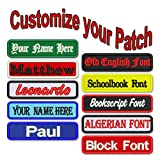 Custom Name Patch 4' x 1' Embroidered Iron On/Sew On Personalized