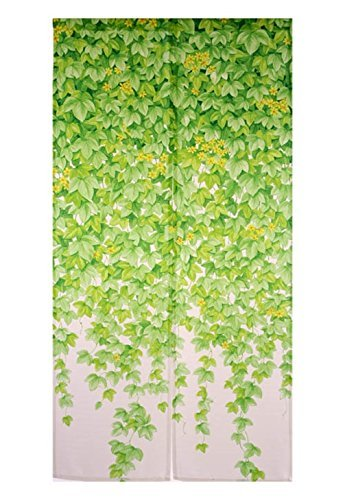 [Long: 67inch] Noren Curtain Tapestry - Ivy